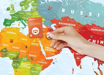Mapa interaktywna świata - Kids Sights